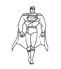 superman clipart black white pencil color superman