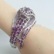 crystal snake bracelet images Silver tone exquisite purple crystal rhinestone cobra snake jpg
