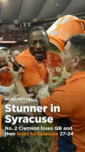 Syracuse Meme - clemson loses qb and then loses to syracuse 27 24 video