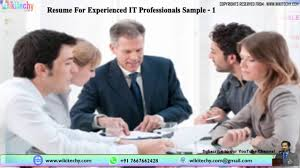 Sample Resume Format For Experienced Bpo Professionals by Resume For Experienced It Professionals Sample Resume Resume