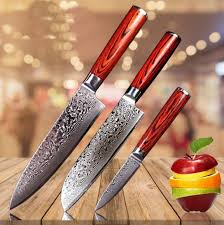 damascus steel kitchen knives kbs knives handmade damascus steel kitchen knives set