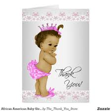 african american baby shower thank you cards baby shower