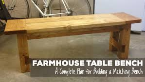 Plans For Building A Wood Bench by Free Plans For Making A Rustic Farmhouse Table Bench A Lesson