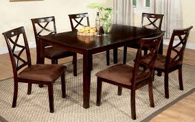 buy furniture of america cm3420t 7pk set baxter 7 piece dining