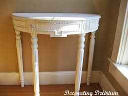 White Foyer Table by Furniture Captivating Demilune Table For Home Furniture Ideas