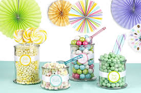 amazon com diy baby shower candy buffet kit pastel colors