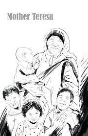 mother teresa coloring pages mothers toddlers goose free
