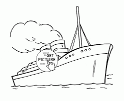 steamship coloring page for kids transportation coloring pages