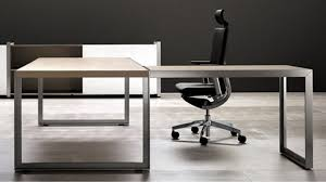 L Shaped Contemporary Desk Modern Oikos L Shaped Desk With Metal Leg Maple Zuri