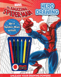spider man draw marvel parragon books 9781445461021