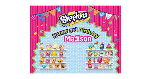 Personalized Photo Backdrop Shopkins Birthday Party Products Popsugar Moms Photo 16