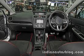 subaru xv interior 2016 subaru xv sti facelift thai motor expo live