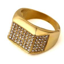 golden stone rings images Hip hop jewelry gifts women men bling simulated stone steel rings jpg