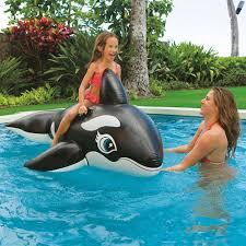 Intex Inflatable Swimming Pool Intex Orca Whale Ride On Swimming Pool Float Inflatable With Grab