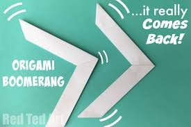 paper origami boomerang cool paper toy