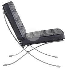 Barcelona Armchair Replica Barcelona Chair U0026 Ottoman 1 Seater Premium Black Italian