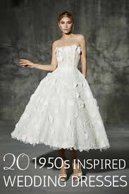 inspired wedding dresses 20 chic 1950s inspired wedding dresses chic vintage brides
