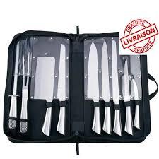 lot couteau de cuisine lot de couteaux en pochette 9 pièces série pro couteaux de cuisine