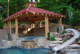 Swimming Pool Design Pdf by Pool House Wood Gazebo Olde World Woodworks Outside