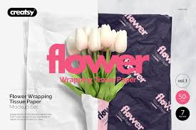 flower wrapping paper flower wrapping paper mockup set product mockups creative market