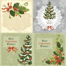 vintage christmas cards clipart 81