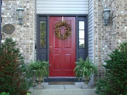 front doors paint color front door red brick house image of