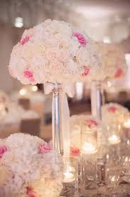 Reception Centerpieces Rose And Hydrangea Reception Centerpieces Elizabeth Anne Designs