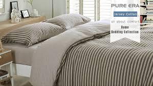 amazon com pure era egyptian quality jersey cotton bedding sets