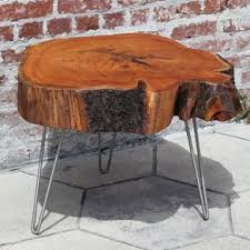 tree cross section table live edge wood furniture custommade com