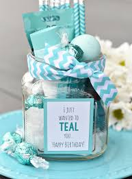 gift ideas teal birthday gift idea for friends squared