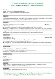 sle resume for job application in india cv resume format india resume sles for teachers in india and