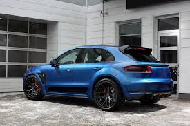 Porsche Macan Specs - porsche macan ursa sapphire blue topcar