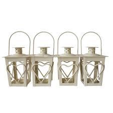 cheap sharp metal candle holder small iron lantern white