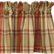 Country Plaid Valances Straight Valances Country Style Curtains Plaid Panels Exceptional