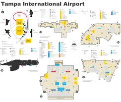 Tampa Florida Usa Map by Tampa International Airport Map
