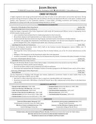 Law Enforcement Resume Examples by Police Chief Resume Free Resume Example And Writing Download