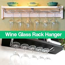 qoo10 wine glass rack hanger diy glass holder kitchen shelf