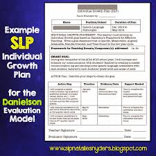 Slp Resume Examples by Creating An Individual Growth Plan For The Danielson Model As An