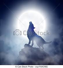 howling wolf wolf howling at the moon eps 10 clip vector