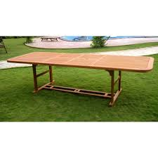 Expandable Patio Table Royal Tahiti Expandable Wooden Patio Dining Table Simply