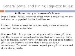 dinner party hostess gift dining etiquette u2026just the basics ppt video online download
