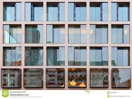 old modern old building architecture reflected in modern building stock photo