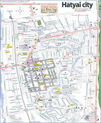 map of hat yai hat yai map hat yai thailand mappery