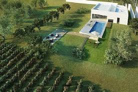 Contemporary House Design With Vineyard In Portugal Home Design - Backyard vineyard design