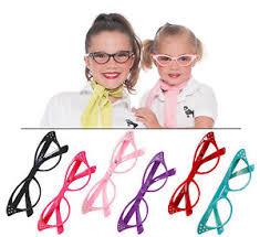 hip hop 50s shop child cat eye glasses poodle skirt halloween