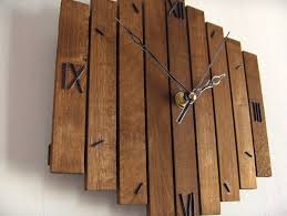 Old Wood Wall Wooden Wall Clock Roman Decor Hanging Wall Clock Old Clock