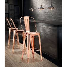 elea rose gold modern bar stool eurway furniture