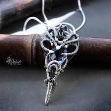 elvish necklace silver elvish jewelry elvish jewellery