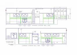 floorplans equine motorcoach 8 horse stacker storage living quarters or more storage aerial view