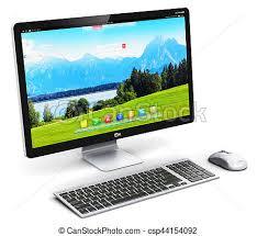 ordinateur pc de bureau ordinateur pc bureau render communication résumé
